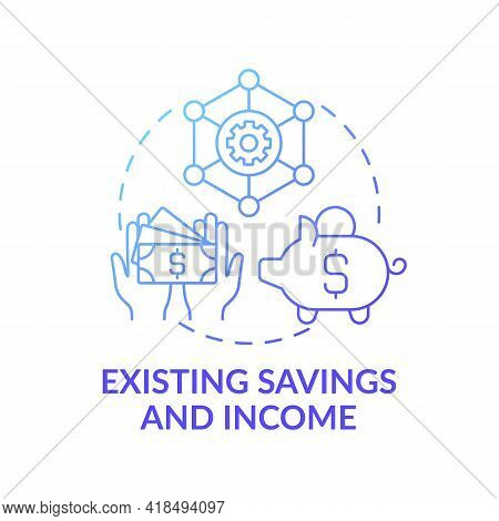 Existing Savings And Income Concept Icon. Wealth Plan Element Idea Thin Line Illustration. Planning