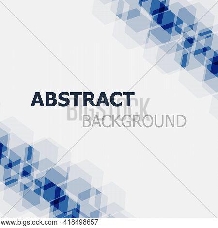 Abstract Dark Blue Hexagon Background, Stock Vector