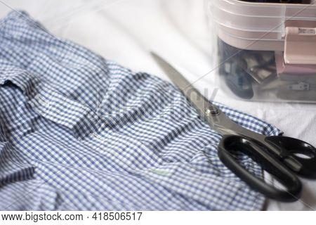 Sewing Box Organizer Shirt, Fabric. Sewing And Sewing Supplies