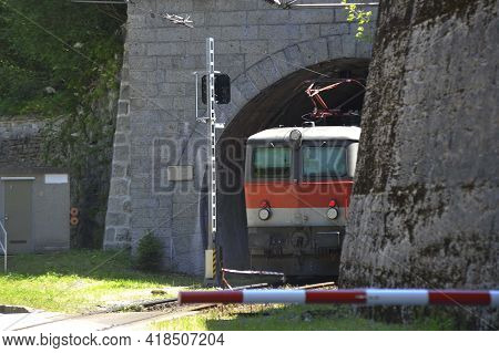Railroad Tunnel As A Passageway In Train Transportation