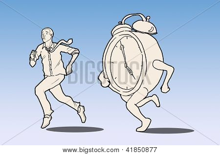 Business Man Races Against Time