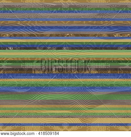 Seamless Hip Vogue Random Trendy Stripe Pattern Print