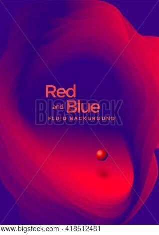 Liquid Poster Design Template In Duotone Gradients