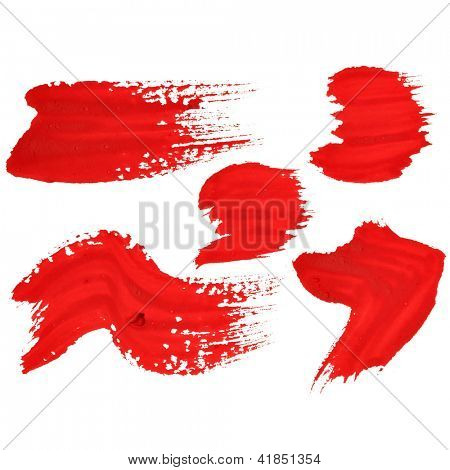 Marks - Red handwritten letters over white background