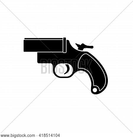 A Flare Gun Icon, Also Known As A Very Pistol Or Signal Pistol, Is A Large-bore Handgun That Dischar