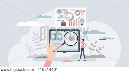 Business Dictionary With Information How Develop Company Tiny Person Concept. Educational Explanatio