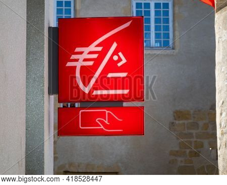BAYONNE, FRANCE - CIRCA APRIL 2021: Caisse d'Epargne sign outside agency. Caisse d'Epargne is a French banking group.