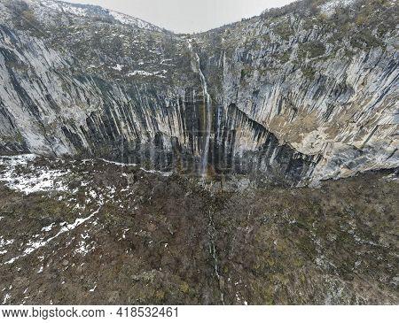 Amazing Panorama Of Vrachanska Skaklya -the Highest Waterfall In The Balkans Near Town Of Vratsa,  B