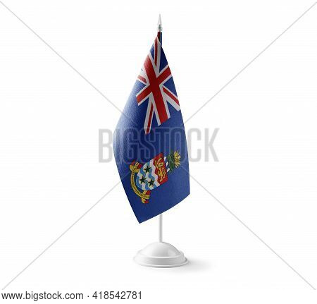 Small National Flag Of The Cayman Islands On A White Background