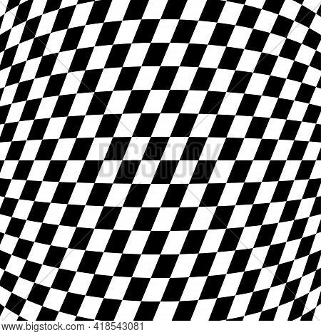 Illusion Abstract Black And White Pattern. Monochrome Pattern. Optical Illusion. Op Art.