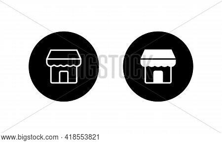 Online Shop, Marketplace Icon Vector. Store Symbol Illustration