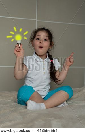 Children Idea With Draft Lamp, Girl Came Up With The Idea.