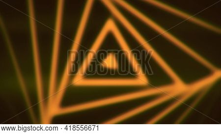 Spiral Of Triangular Shape. Animation. Slow Hypnotic Animation With Moving Triangular Spiral Pattern