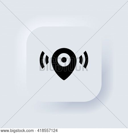 Map Pointer Icon. Location Icon. Map Pointer Notification. Simple Looking For Signal. Neumorphic Ui