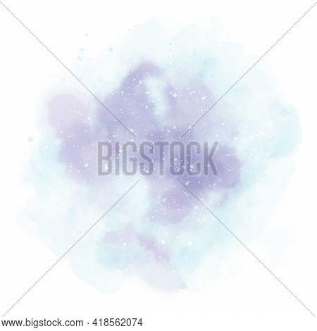 Paint Blue Purple Pastel Background For Art Design, Tag. Blue White Paint Pastel Watercolor Stain El
