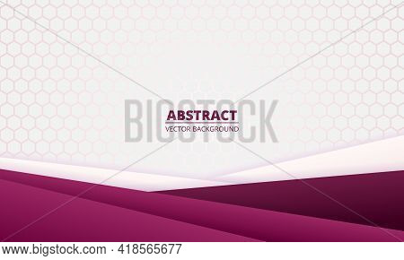 Light Abstract Background With Diagonal Colored Gradient Paper Lines And Hexagonal Grid. Modern, Ele