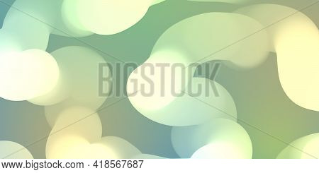 Abstract Futuristic Light Green Background With Glow Effect, Illumination. Lamps, Light, Glow, Inner