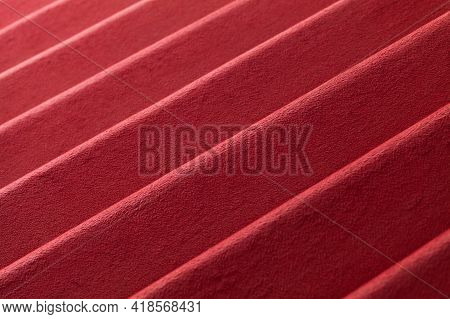 Red Carpet Covering Stairway, Background Photo Texture