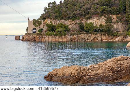 Adriatic Sea Coast Near Miramare Castle Trieste Italy