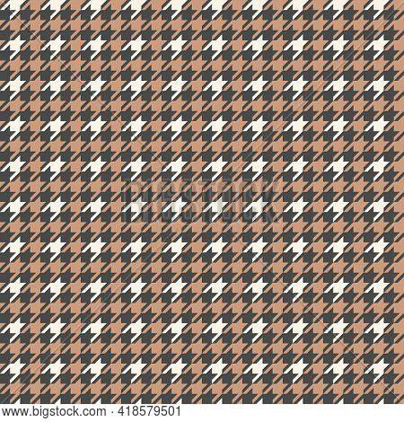 Houndstooth Seamless Pattern. Tartan Tweed Print. Vector Illustration
