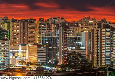 Cityscape At Dusk On A Powerful Sunset And Lights Of The City Turning On. Photo Of Gleba Palhano Nei