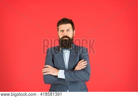 Do It With Fashion Or Not At All. Confident Businessman. Business Lawyer. Bearded Man In Formal Suit