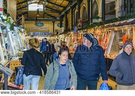 Dimotiki Agora Market, Athens, Greece