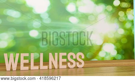 Wellness Word For Health Concept 3d Rendering