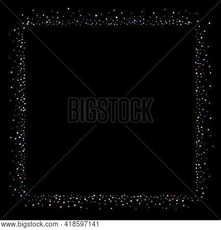 Glitter Iridescent Stars. Holographic Sparkle Fall Confetti. Rainbow Sprocket, Shiny Little, Balls,