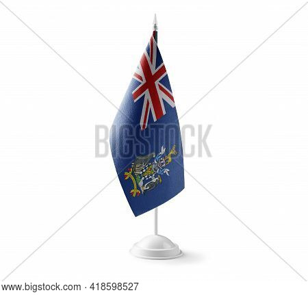 Small National Flag Of The South Georgia And The South Sandwich Islands On A White Background