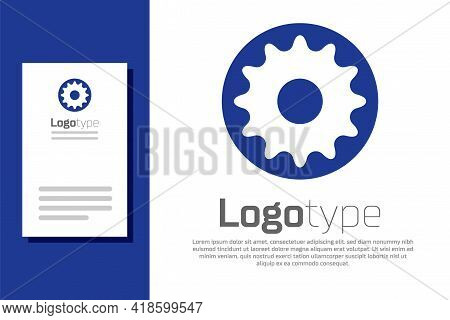 Blue Chakra Icon Isolated On White Background. Logo Design Template Element. Vector