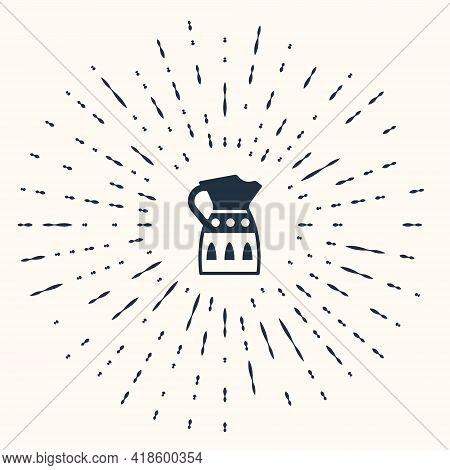 Grey Sangria Pitcher Icon Isolated On Beige Background. Traditional Spanish Drink. Abstract Circle R