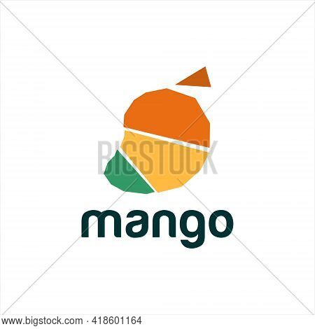 Fun Abstract Mango Bold Shape Logo Template For Food And Fruit Vector Graphic Designs Inspiration