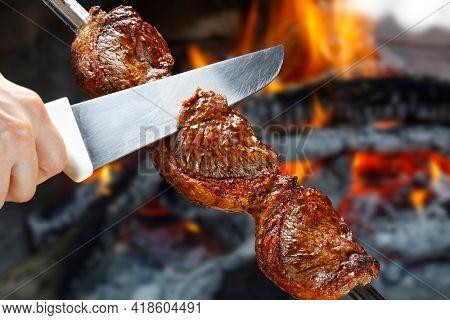 Picanha, traditional Brazilian beef cut