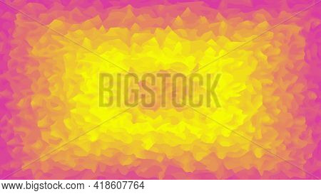 Bright Colored Background In Yellow And Pink Colors, Plasma Or Explosion.