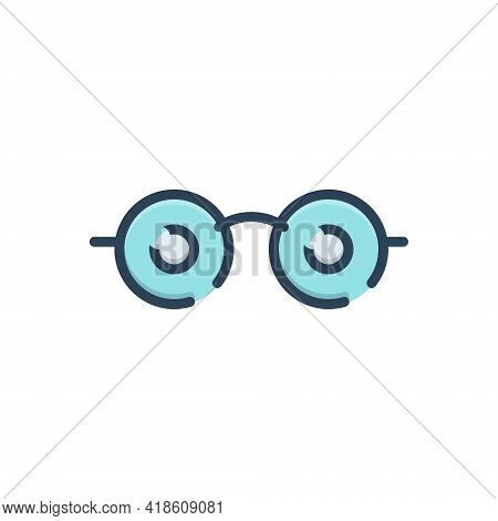 Color Illustration Icon For See View  Look Sight Watch Vision Eyesight Dristi Peep