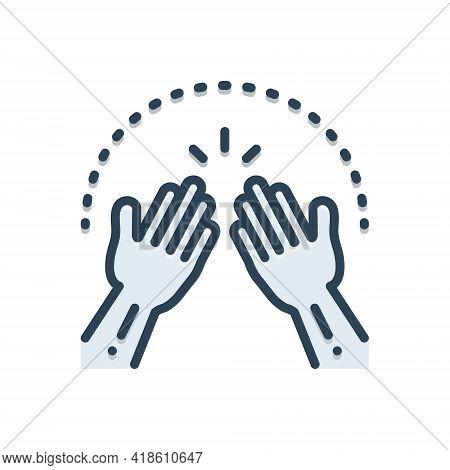 Color Illustration Icon For Amen Hands Pray  Implore Appeal Cassation Petition