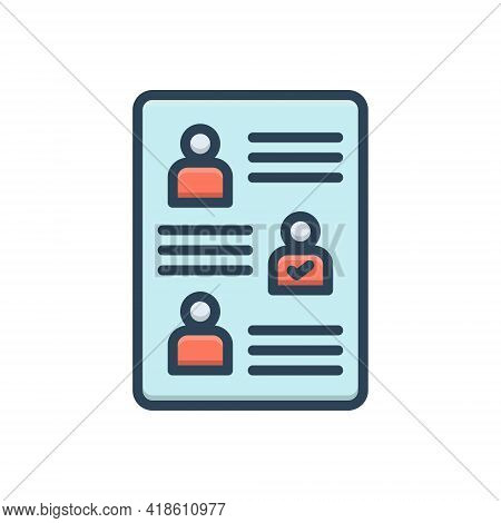 Color Illustration Icon For Affectation Sham Pretense Show Display Publicity Puffery