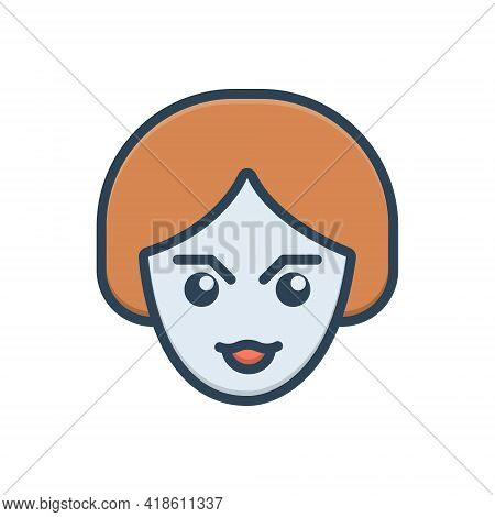 Color Illustration Icon For Look See View Scrutinize Watch Sight Vision