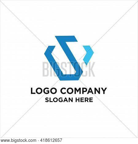 Ws Logo. Vector Graphic Branding Letter Element. White Background,  Sw Letter Logo, S W Letter Icon
