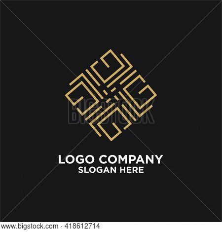 Elegant Luxury Pattern Motif Initials  G Logo Design Inspiration, Beauty Elegant Mandala Ornament Pa