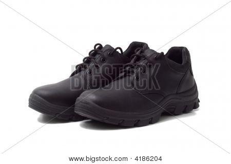 Black Men'S Leather City Shoes