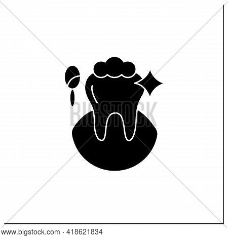 Cosmetic Dentistry Procedures Glyph Icon. Therapy Improves A Patient Smile And Self-confidence.teeth