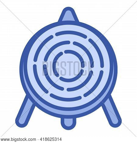 Archer Wood Target Icon. Outline Archer Wood Target Vector Icon For Web Design Isolated On White Bac