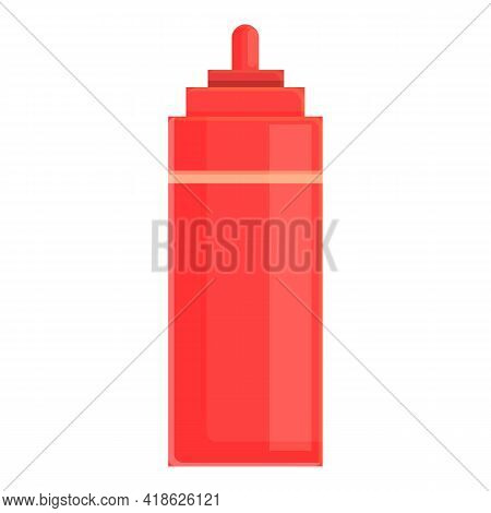 Ketchup Bottle Icon. Cartoon Of Ketchup Bottle Vector Icon For Web Design Isolated On White Backgrou