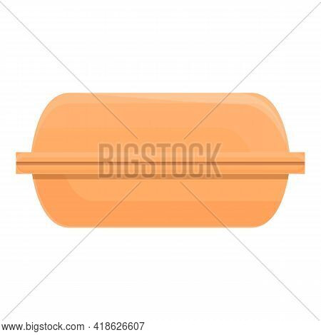 Takeaway Food Box Icon. Cartoon Of Takeaway Food Box Vector Icon For Web Design Isolated On White Ba