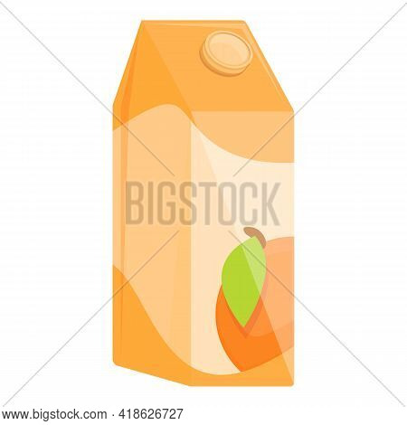 Juice Pack Icon. Cartoon Of Juice Pack Vector Icon For Web Design Isolated On White Background