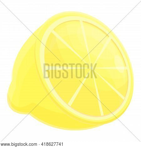 Lemon Protein Nutrient Icon. Cartoon Of Lemon Protein Nutrient Vector Icon For Web Design Isolated O