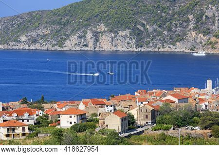 12th Century Coastal Town Lying On The Island Of Vis On The Adriatic Sea, Typical Mediterranean Arch