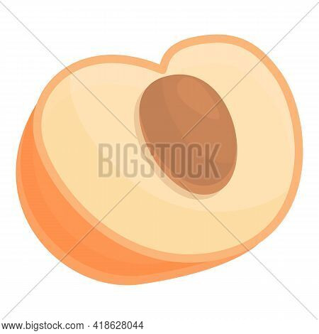 Protein Nutrient Peach Icon. Cartoon Of Protein Nutrient Peach Vector Icon For Web Design Isolated O
